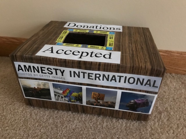 Our Group Donation Box